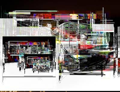Digital Art - Abstract Fountain by Art Di