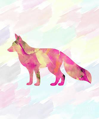 Fox Digital Art - Abstract Fox  by Amir Faysal