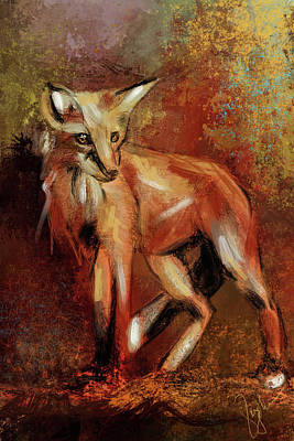 Painting - Abstract Fox by Jai Johnson
