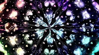 Sterling Silver Digital Art - Abstract Fractal 623162 by Belinda Cox