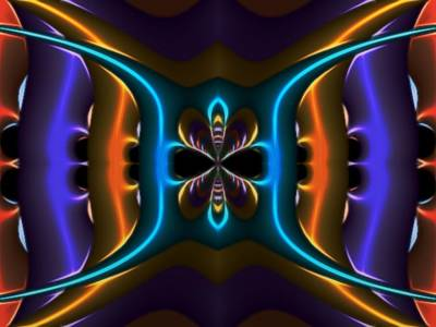 Abstract Fractal Kaleidoscope Butterfly Print by Gina Lee Manley