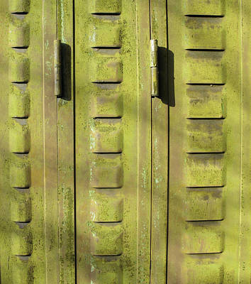 Vivid Colour Mixed Media - Abstract French Shutter 001 by Marcus Kett