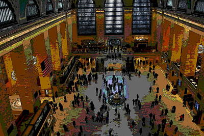 Photograph - Abstract - From Catwalk Of Grand Central Terminal by Jacqueline M Lewis