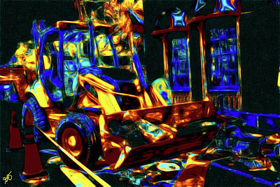 Photograph - Abstract Front End Loader by Gina O'Brien