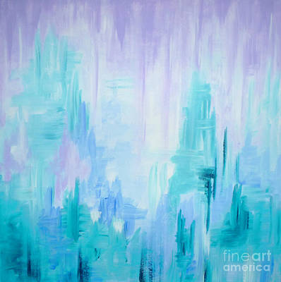 Painting - Abstract Frost 1 by Julia Underwood