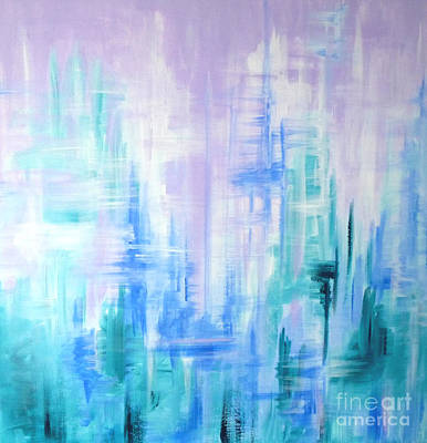 Painting - Abstract Frost 2 by Julia Underwood