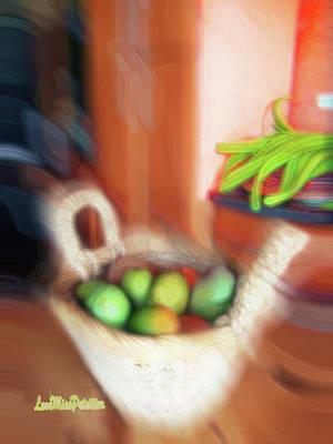 Digital Art - Abstract Fruit Art   101 by Miss Pet Sitter