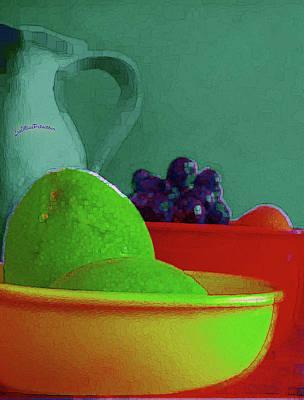 Digital Art - Abstract Fruit Art 81 by Miss Pet Sitter