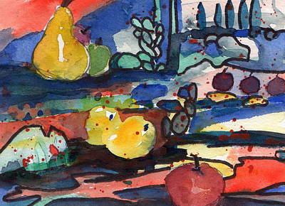 Painting - Abstract Fruit by Laurie Salmela