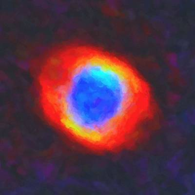 Planet System Painting - Abstract Galactic Nebula With Cosmic Cloud 9 by Celestial Images