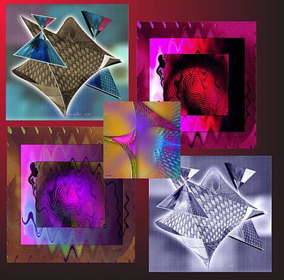 Digital Art - Abstract Gallery #1 by Iris Gelbart