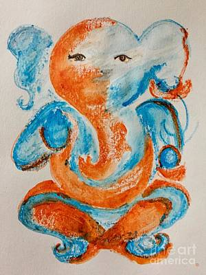 Painting - Abstract Ganesha by Brindha Naveen