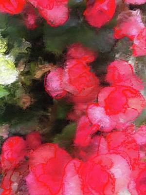 Digital Art - Abstract Pink Garden by Femina Photo Art By Maggie