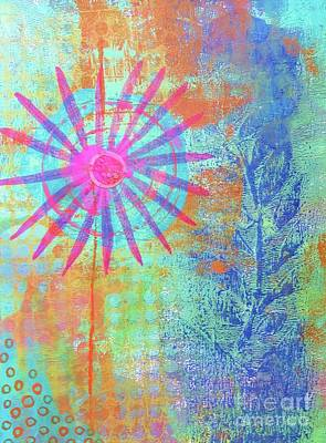 Painting - Abstract Garden Walk by Desiree Paquette