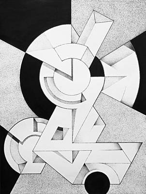 Abstract Shapes Drawing - Abstract Geometry by Andre Pinheiro