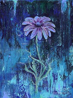 Gerbera Daisy Painting - Abstract Gerbera Daisy by Renee Lavoie
