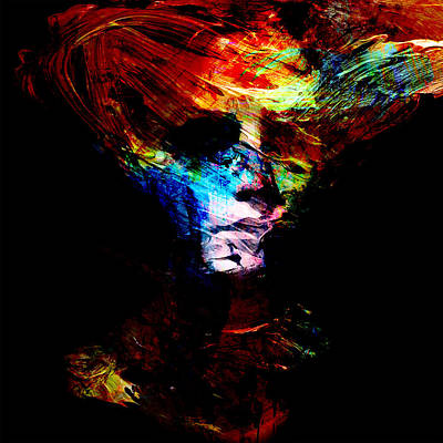Hauntings Digital Art - Abstract Ghost by Marian Voicu