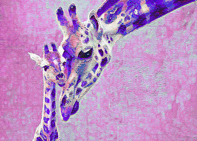 Abstract Giraffes2 Art Print by Jane Schnetlage