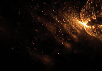 Abstract Glowing Particles Wallpaper Art Print