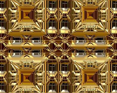 Digital Art - Abstract Gold by Janet Duffey