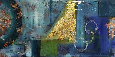 Painting - Abstract Gold by Sandra Reeves