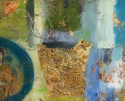 Painting - Abstract Gold Two by Sandra Reeves
