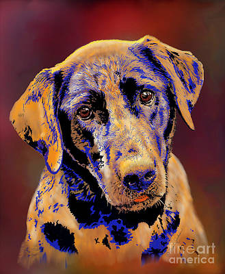 Digital Art - Abstract Golden Labrador Retriever Painting by Dale E Jackson