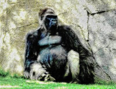 Photograph - Abstract Gorilla 12 Version 2 by Kristalin Davis