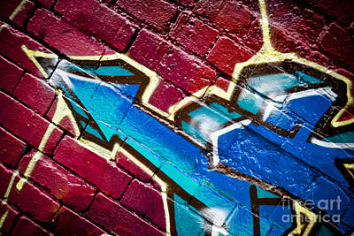 Vandalize Painting - Abstract Graffiti Arrow by Yurix Sardinelly