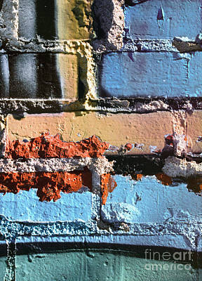 Photograph - abstract graffiti - Bricks and Mortar by Sharon Hudson