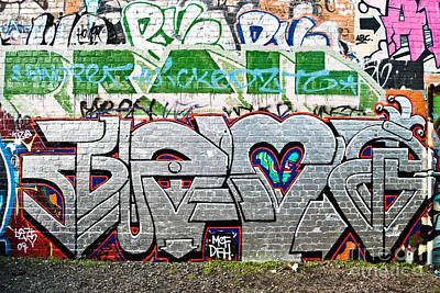 Vandalize Painting - Abstract Graffiti On The Brick Wall by Yurix Sardinelly