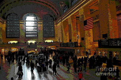 Photograph - Abstract - Grand Central Main Concourse by Jacqueline M Lewis