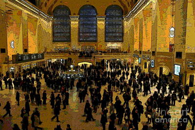 Photograph - Abstract - Grand Central Terminal by Jacqueline M Lewis