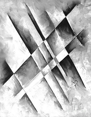 Abstract Gray Minimalist Contemporary Pop Art Painting Gray Scale I By Madart Original by Megan Duncanson
