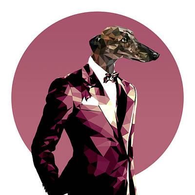 Abstract Greyhound 1 Art Print