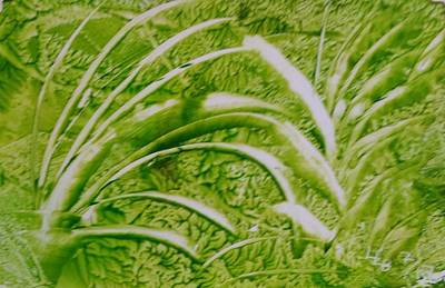 Painting - Abstract Green And White Leaves And Grass by Lorraine Bradford