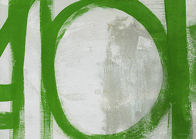 Painting - Abstract Green Circle 2- Art By Linda Woods by Linda Woods