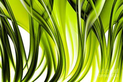Abstract Green Grass Look Art Print