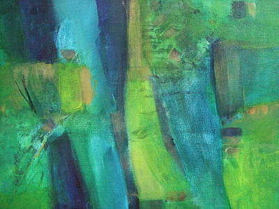 Painting - Abstract Green by Janet Visser