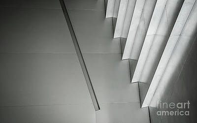 Photograph - Abstract Grey Background Of Contemporary Minimal Architecture In by Jacek Malipan