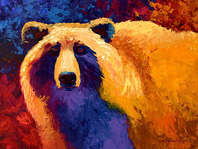 Nature Abstract Painting - Abstract Grizz II by Marion Rose