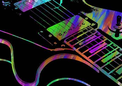 Digital Art - Abstract Guitar Paint I by Ricky Barnard
