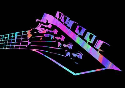 Digital Art - Abstract Guitar Paint II by Ricky Barnard