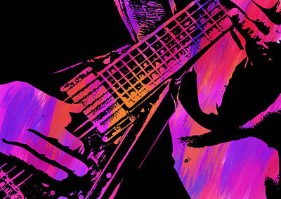 Digital Art - Abstract Guitar Paint IIi by Ricky Barnard