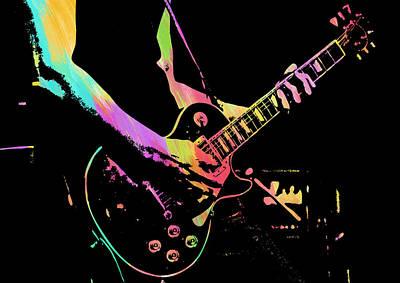 Digital Art - Abstract Guitar Paint V by Ricky Barnard