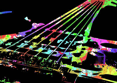 Digital Art - Abstract Guitar Paint Vi by Ricky Barnard