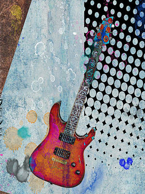Photograph - Abstract Guitar by Steve McKinzie