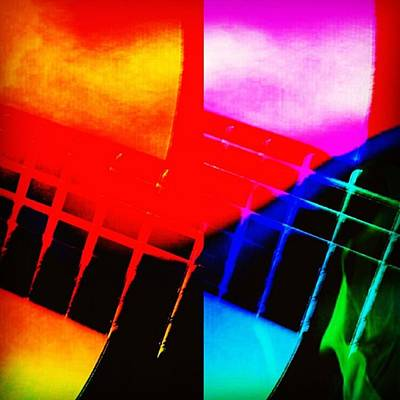 Pop Art Photograph - Abstract Guitar!  #art #abstract by Elizabeth Whycer