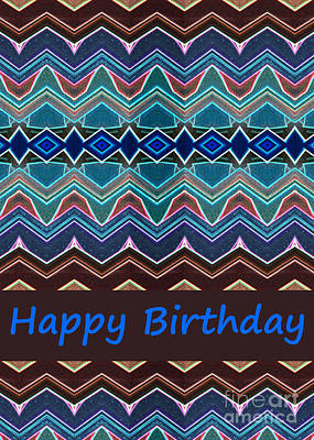 Digital Art - Abstract-happy Birthday Card by Wendy Wilton