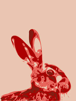 Digital Art - Abstract Hare Contours Glaze by Keshava Shukla